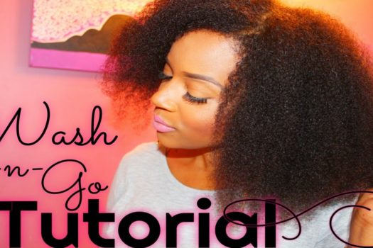 Quick Wash And Go Tutorial For Natural Hair + Video