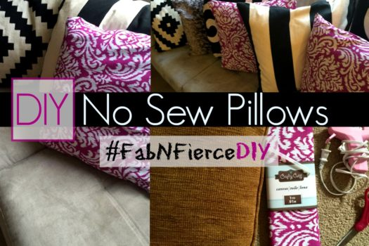 No Sew Pillows DIY