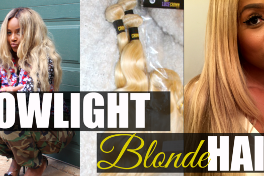 How To Lowlight Blonde 613 Weave Extensions