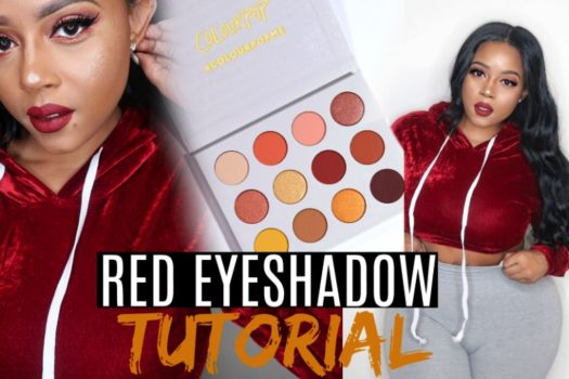 Red Eyeshadow Tutorial | by CrystalChanel