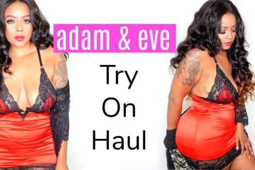 Lingerie Try On Haul Adam & Eve -Plus Size, Curvy, Thick + GIVEAWAY