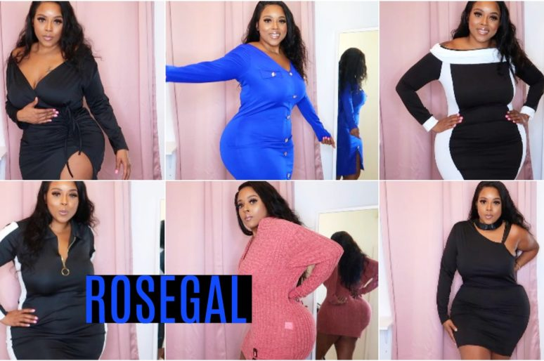 AFFORDABLE ROSEGAL TRY ON HAUL PLUSSIZE CURVY GIRL FRIENDLY